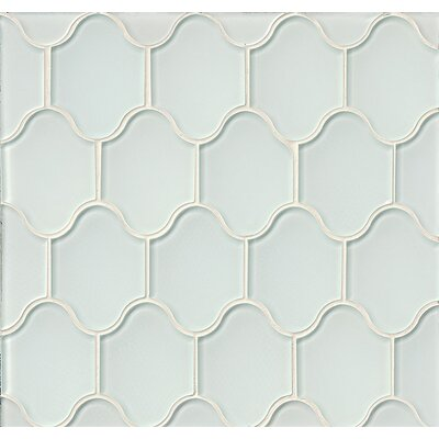 Mallorca Glass Mosaic Tile in Glossy White Linen