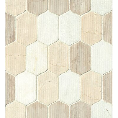 Luxembourg Stone Mosaic Tile in Glossy Tuileries