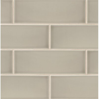 Leila 4 x 12 Ceramic Subway Tile in Taupe