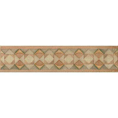 Cotto Nature 14 x 3 Tira Volterra Hand Painted Liner Tile