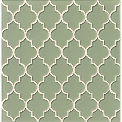 La Palma Glass Mosaic Tile in Glossy Green