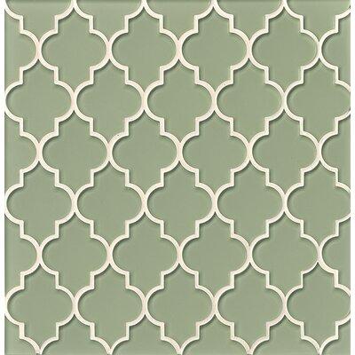 La Palma Glass Mosaic Tile in Glossy Green