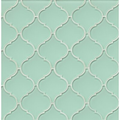 Mallorca Glass Mosaic Tile in Glossy Green