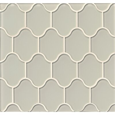Mallorca Glass Mosaic Tile in Glossy Mist