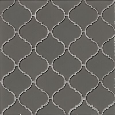 Mallorca Glass Mosaic Tile in Glossy Pelican
