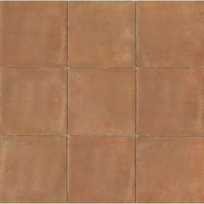 Cotto Nature 14 x 14 Porcelain Field Tile in Matte Siena