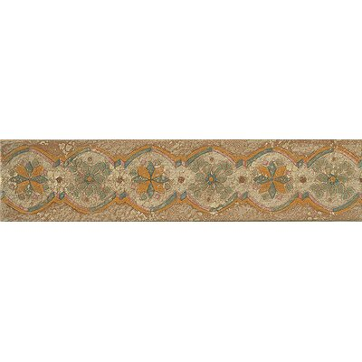 Cotto Nature 14 x 3 Tira Sandro Hand Painted Liner Tile