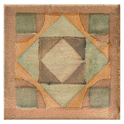 Cotto Nature 3 x 3 Tira Volterra Hand Painted Dot/Corner Tile