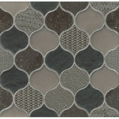 Panache Glass and Stone Mosaic Tile in Glazed Velvet