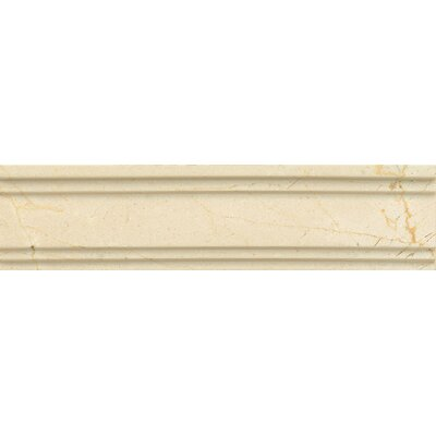 Honed Marble 12 x 3 Chandra Crown Molding Tile in Crema Marfil