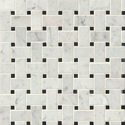 Basket Weave 12 x 12 Marble Mosaic Tile in Aurora