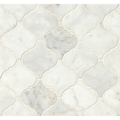 Marble Mosaic Tile in White Carrara