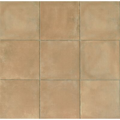 Cotto Nature 14 x 14 Porcelain Leather Look/Field Tile in Beige