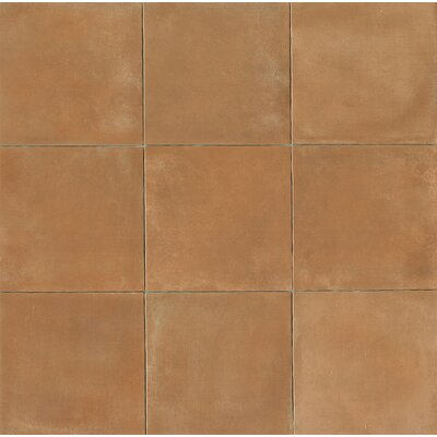 Cotto Nature 14 x 14 Porcelain Leather Look/Field Tile in Sienna