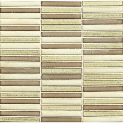 Shizen 0.5 x 4 Porcelain Mosaic Tile in Desert Blend