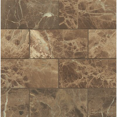 Honed 3 x 6 Marble Mosaic Tile in Emperador Dark