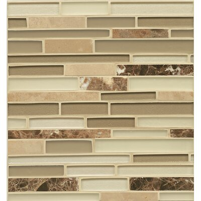 Remy Glass Random Sized Glass Mosaic Tile in Townsend