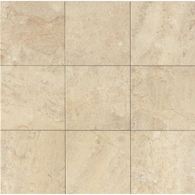 Classic Moderne 18 x 18 Porcelain Field Tile in Cr�me