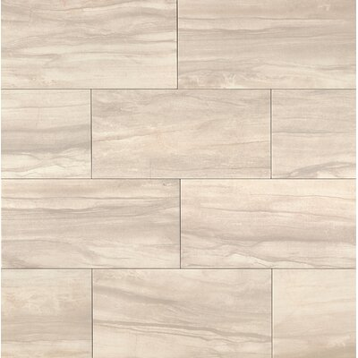 Athena 20 x 40 Porcelain Field Tile in Pearl
