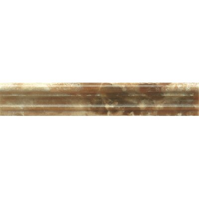 Onyx Chair Rail 2 x 12 Marble Polished Tile in Caramel Swirl