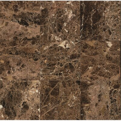 18 x 18 Marble Field Tile in Emperador Dark