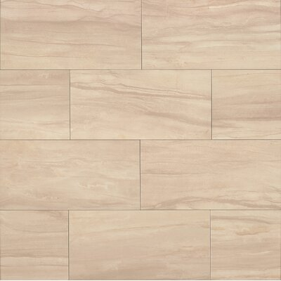Athena 20 x 40 Porcelain Field Tile in Sand