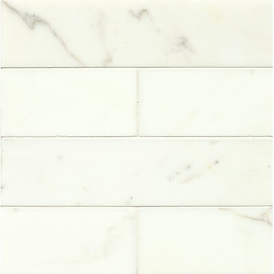 Honed-Italy 3 x 12 Marble Mosaic Tile in Calacatta Oro
