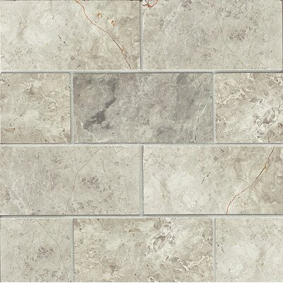 3 x 6 Marble Mosaic Tile in Sebastian Grey