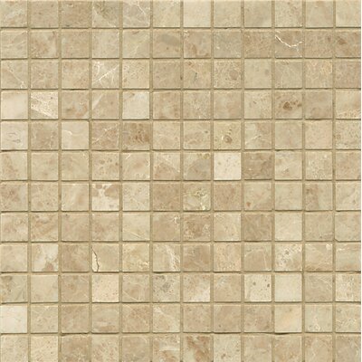 1 x 1 Marble MosaicTile in Cappuccino