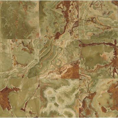 Onyx 12 x 12 Marble Field Tile in Palisades Green