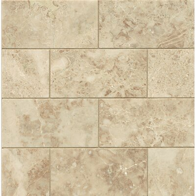 Honed 3 x 6 Marble Mosaic Tile in Cappuccino