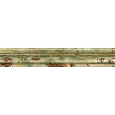 Onyx Chair Rail 2 x 12 Marble Polished Tile in Palisades Green