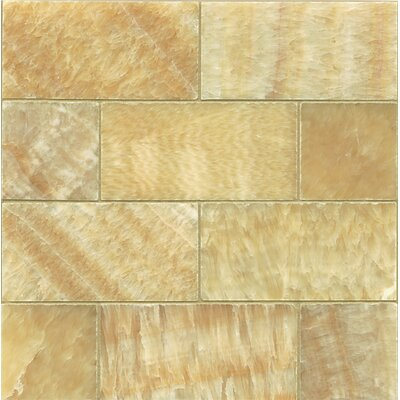 Onyx 3 x 6 Marble MosaicTile in Honed Sweet Honey