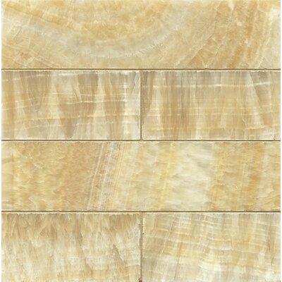Onyx 3 x 12 Marble Mosaic Tile in Sweet Honey