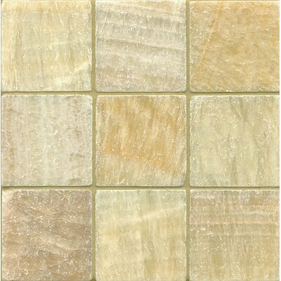Onyx 4 x 4 Marble Field Tile in Sweet Honey