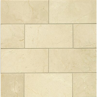 3 x 6 Marble Mosaic Tile in Crema Marfil