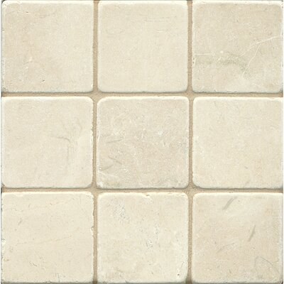4 x 4 Marble Mosaic Tile in Crema Marfil Select