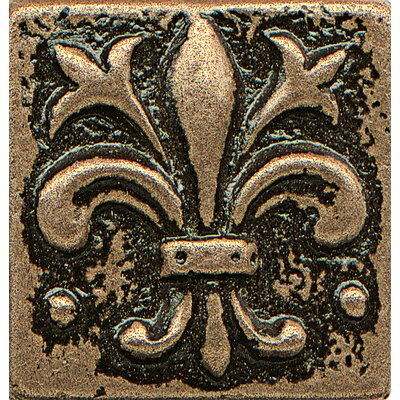 Ambiance Insert Flor De Lis 1 x 1 Resin Tile in Bronze