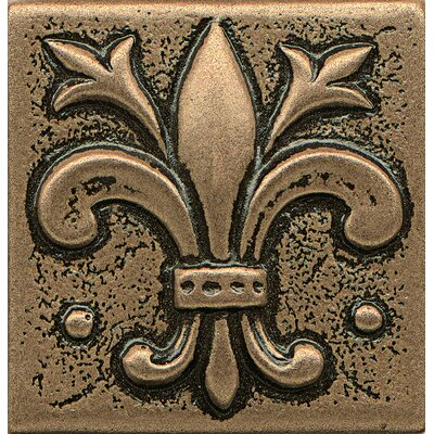 Ambiance Insert 2 x 2 Metal and Resin Tile in Bronze