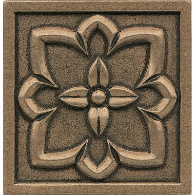 Ambiance Insert 4 x 4 Metal and Resin Tile in Bronze