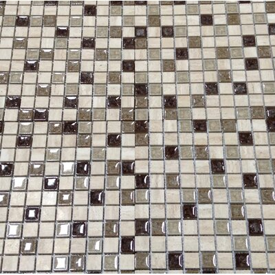 Kismet 1 x 1 Glass Mosaic Tile in Happenstance