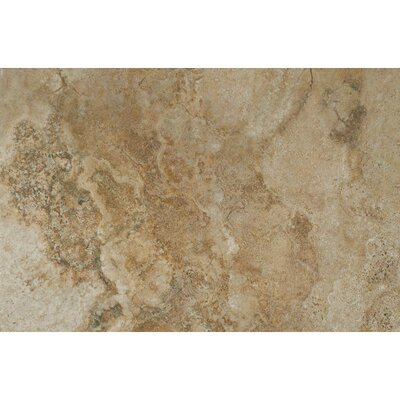 Forge Ink Jet Brushed Texture 13 x 20 Porcelain Tile in Walnut