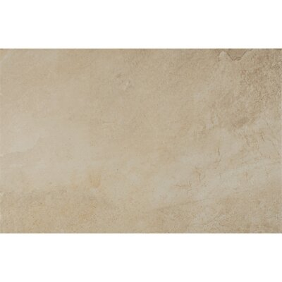 Rok Textured Ink Jet 13 x 20 Porcelain Tile in Almond