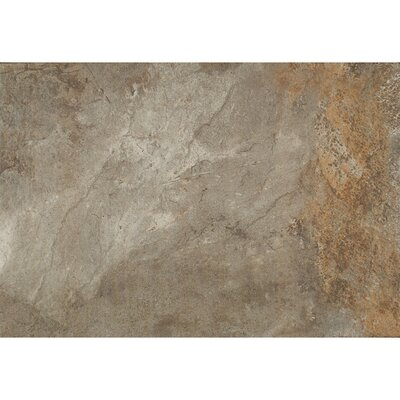 Rok Textured Ink Jet 13 x 20 Porcelain Tile in Antracite