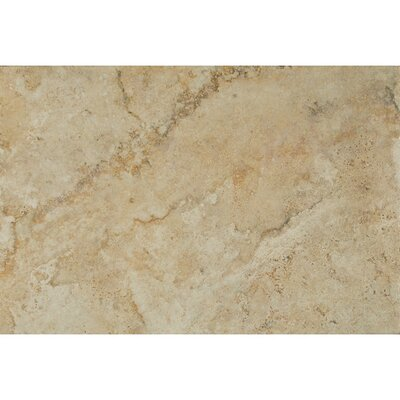 Forge Ink Jet Brushed Texture 13 x 20 Porcelain Tile in Beige