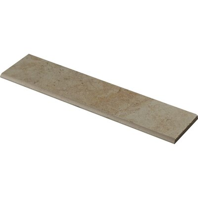 Forge Ink Jet Bullnose 3 x 13 Porcelain Tile in White