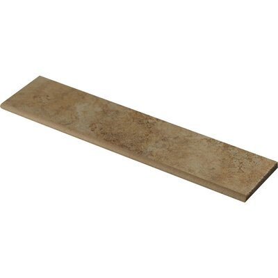 Forge Ink Jet Bullnose 3 x 13 Porcelain Tile in Gold