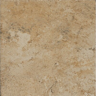 Rok Textured Ink Jet 6.5 x 6.5 Porcelain Tile in Tufo