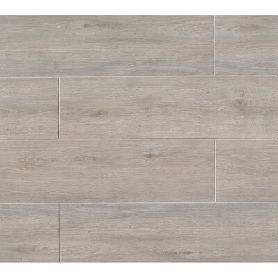Porcelain Wood Look Tile in Glazed Gray