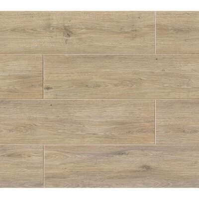 Porcelain Wood Look Tile in Glazed Camel